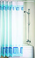 """Штора в ванную текстиль 180 x 200 см """"Лабиринт"""", Киев"""