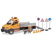 Игрушка - МВ Sprinter дорожная служба + фигурка + аксессуары, М1:16 02537