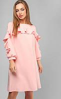 Платье с рюшами 3194 (4 цвета), платье до колена, свободное платье, красива сукня