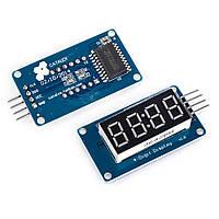Модуль часов для Arduino с семисегментным дисплеем. Красное свечение. TM1637