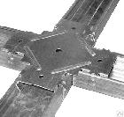 Соединитель крестообразный универсальный для потолочного CD профиля (краб), фото 2