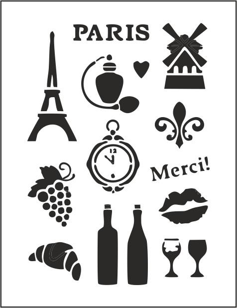 "Трафарет многоразовый ""Париж"" (код 02849)"