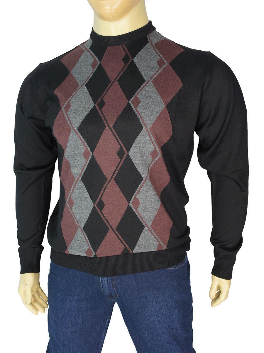 Мужской комбинированный свитер большого размера Taddy 0300 B круг С размер 5XL