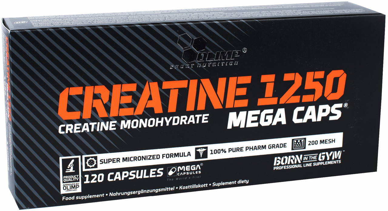 Креатин Olimp Creatine Mega Caps 1250 (120 капс) олимп мега капс