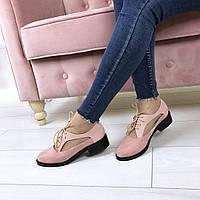 Туфли эколак + экозамш + (2 цвета)