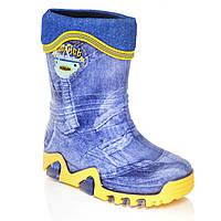 Резиновые сапоги для мальчика Demar Stormic Jeans Lux 20-21 р.