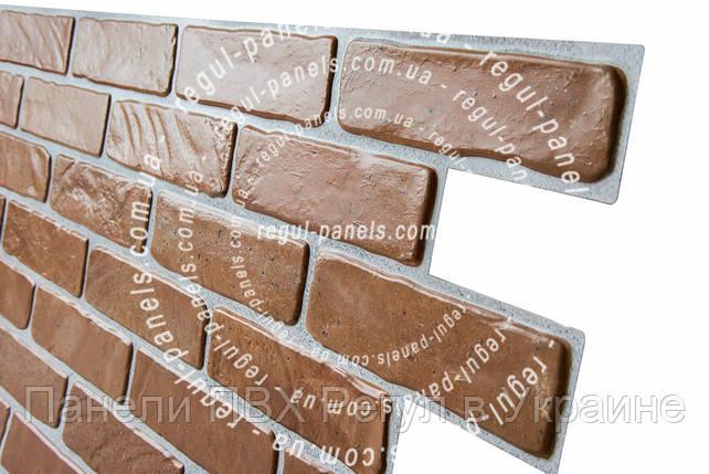 Стеновые панели пвх КИРПИЧ «СТАРЫЙ ЖЕЛТЫЙ», фото 2