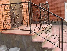Перила, поручни, балконы, лестницы кованые