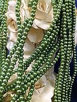 Бусины керамические оливковые диаметр 6 мм на нитке