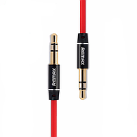 Audio кабель AUX RM-L200 3.5 miniJack male to male 2.0 м red Remax 320103