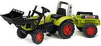 Трактор CLAAS ARION 430 с ковшом и прицепом Falk 1040M