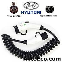 Зарядный кабель Hyundai IONIQ Electric Type1 (J1772) - Type 2 (32A - 5 метров), фото 1