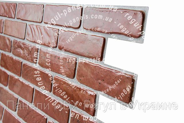 Стеновая панель из пвх КИРПИЧ «СТАРЫЙ КРАСНЫЙ», фото 2