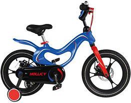 Дитячий двоколісний велосипед Hollicy 16 дюймів синій