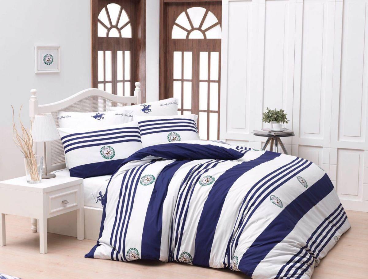Постельное белье BHPC 003 dark blue двуспальный - евро