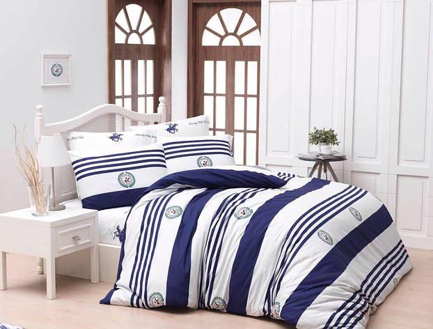 Постельное белье BHPC 003 dark blue двуспальный - евро, фото 2