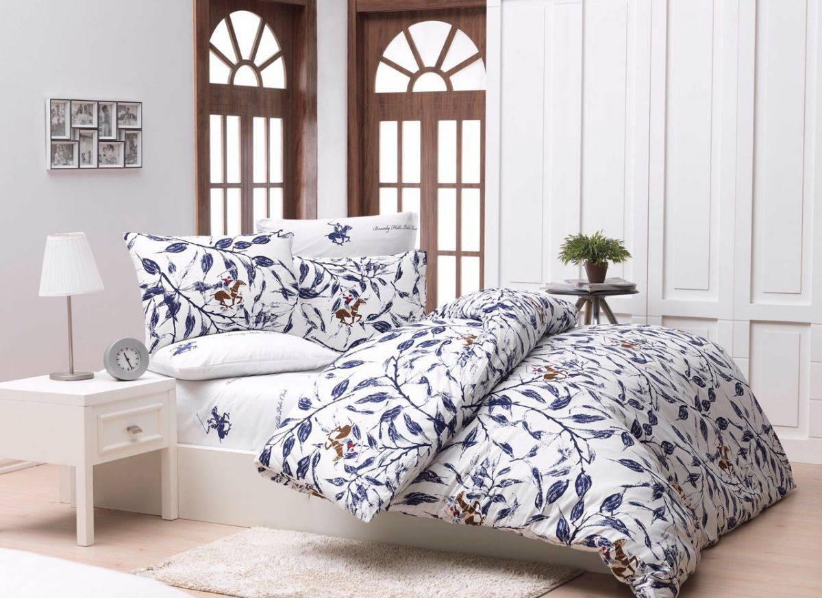 Постельное белье BHPC 005 Blue двуспальный - евро