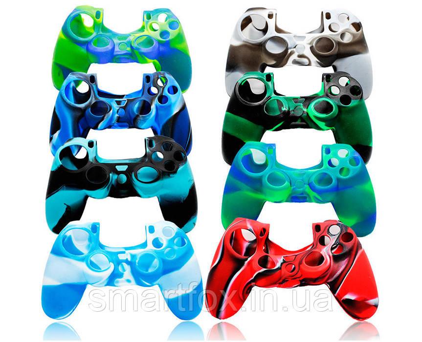 Силиконовый чехол для джойстика PS4 многоцвет