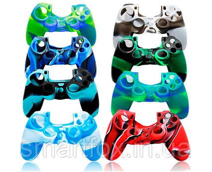 Силиконовый чехол для джойстика PS4 многоцвет, фото 2