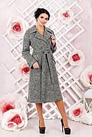 Пальто женское демисезонное классическое размера серое В-983 PI 1651 Тон 11