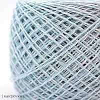 Хлопковая пряжа Ярослав меланж цвет Голубой-белый