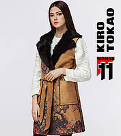 11 Kiro Tokao   Жилетка женская весенне-осенняя 8255-1 желтый
