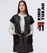 11 Kiro Tokao | Жилет женский весна  4812 черный