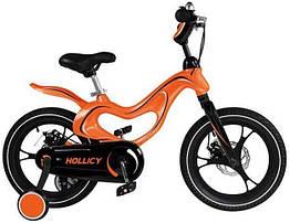 Дитячий двоколісний велосипед Hollicy 16 дюймів помаранчевий