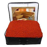 Чехол на угловой диван с креслом ESV терракотовый