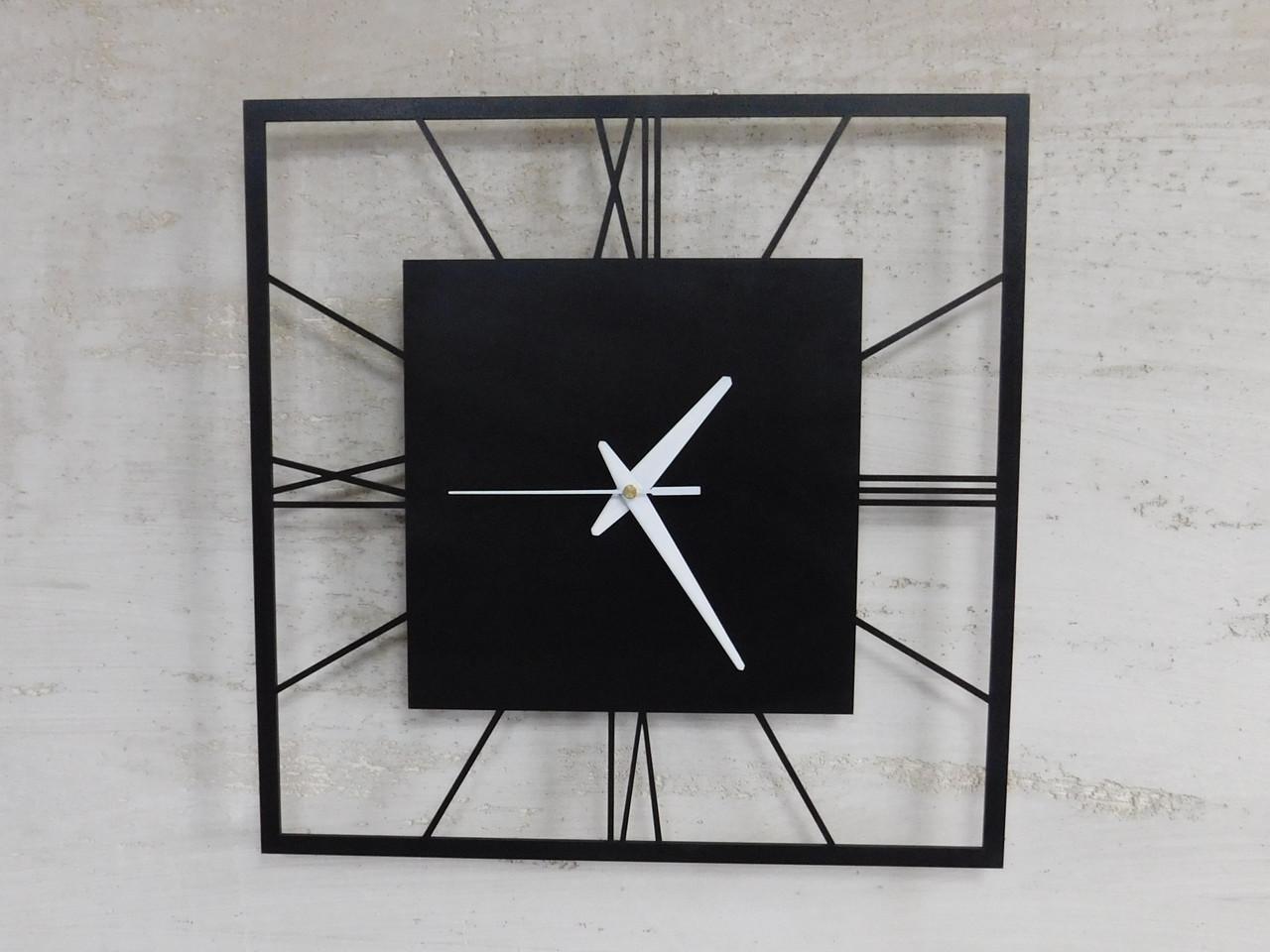 Часы настенные металлические в стиле лофт - Rome 375