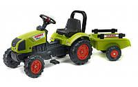 Детский трактор на педалях с прицепом Falk 2040AB CLAAS ARION 410 (цвет зеленый)