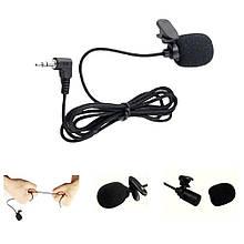 Петличка микрофон для ноутбука/ПК смартфона на прищепке 3.5 петличка mic