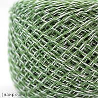 Хлопковая пряжа Ярослав меланж цвет Зеленый-белый