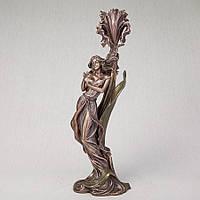 Подсвечник Veronese Девушка с бабочкой 36 см 10280A4