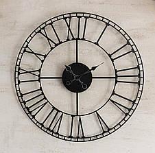 Часы настенные металлические в стиле лофт - Rome 60, фото 2