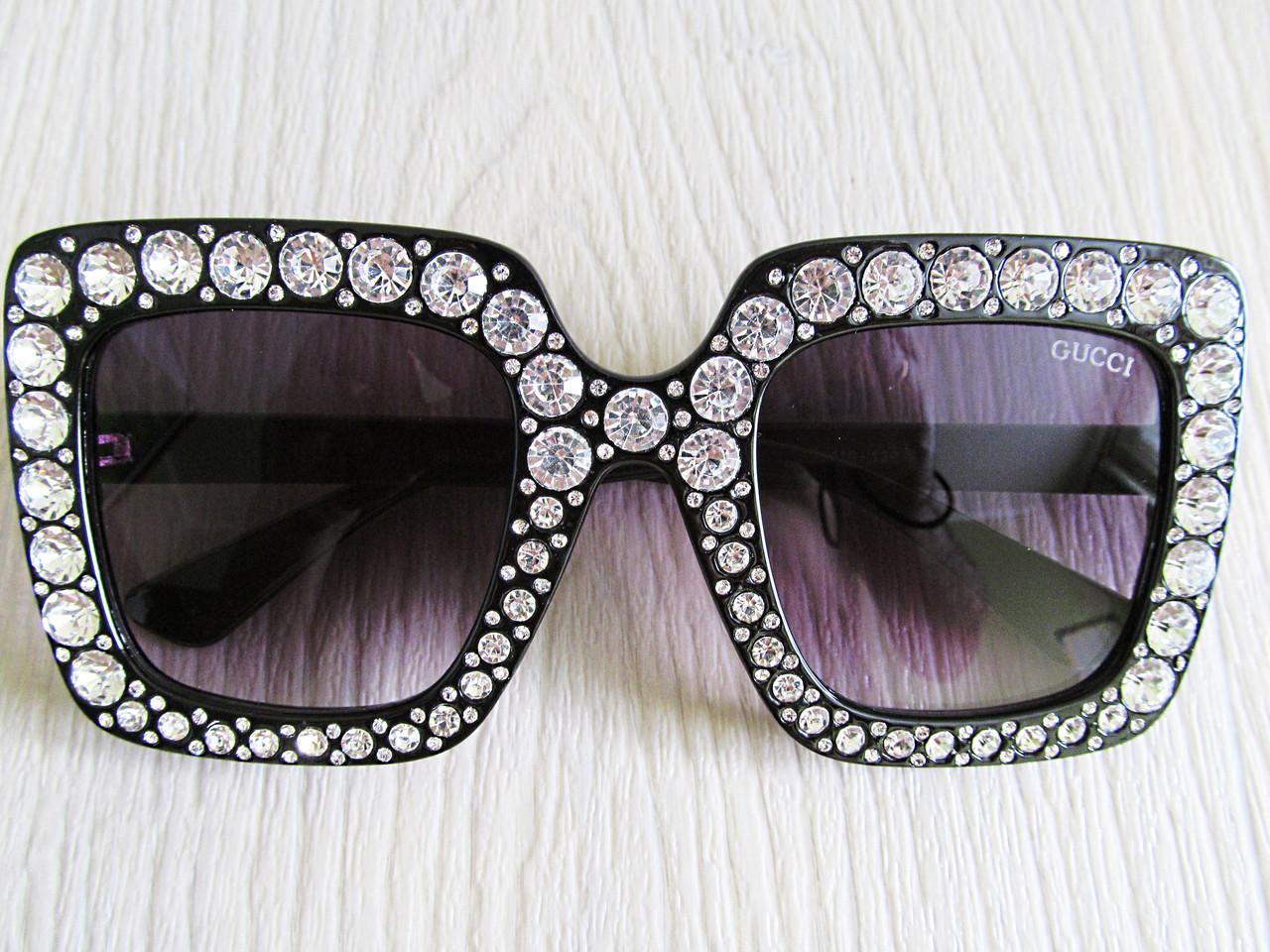 fc54b1fb1fd7 Новинка! солнцезащитные очки с камнями реплика Гуччи  заказ, цены в ...