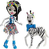 Кукла Энчантималс Зелена Зебра и друг Хуфитт / Enchantimals Zelena Zebra Doll & Hoofette