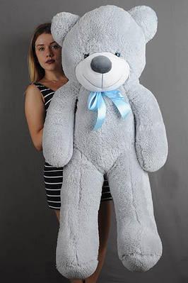 """Плюшевый мишка """"Рафаэль"""", серый, 120 см."""