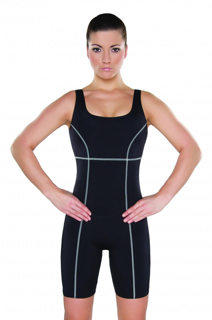 Купальник женский закрытый для бассейна Shepa 046 (original) Польша, купальный костюм, гидрокостюм SportLavka