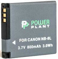 Аккумулятор PowerPlant Canon NB-8L 800mAh