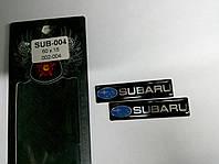 Силиконовые 3D наклейки SUBARU  60х15 мм