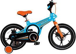 Дитячий двоколісний велосипед Hollicy 16 дюймів блакитний