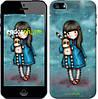 """Чехол на iPhone 5s Девочка с зайчиком """"915c-21-532"""""""
