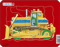 Пазл рамка-вкладыш Бульдозер Lasren серия Мини (Z1-3)
