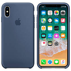 Чехол Apple Silicon Case для iPhone X Blue Cobalt (Original)