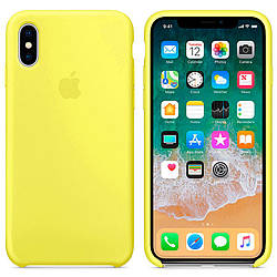 Чехол Apple Silicon Case для iPhone X Flash (Original)
