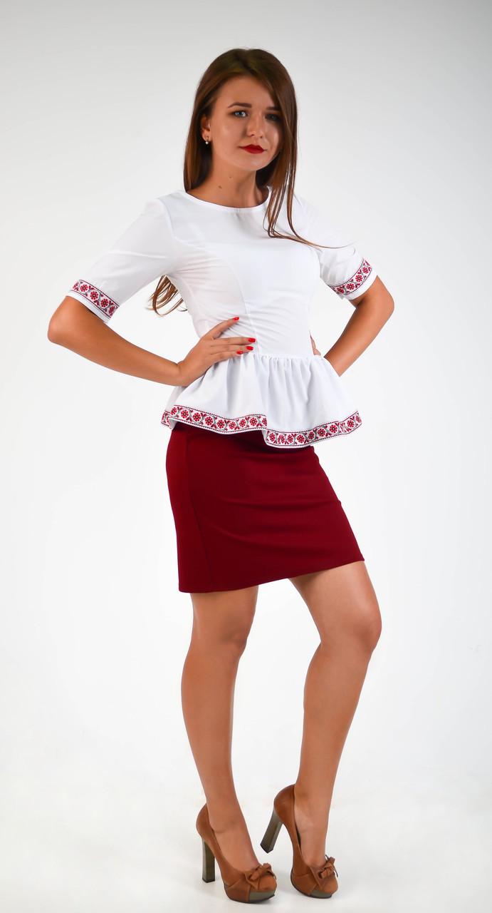 Оригинальная нарядная блуза-вышиванка
