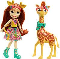 Кукла Энчантималс Жираф Джиллиан и друг Повл / Enchantimals Gillian Giraffe s Fashion Dolls