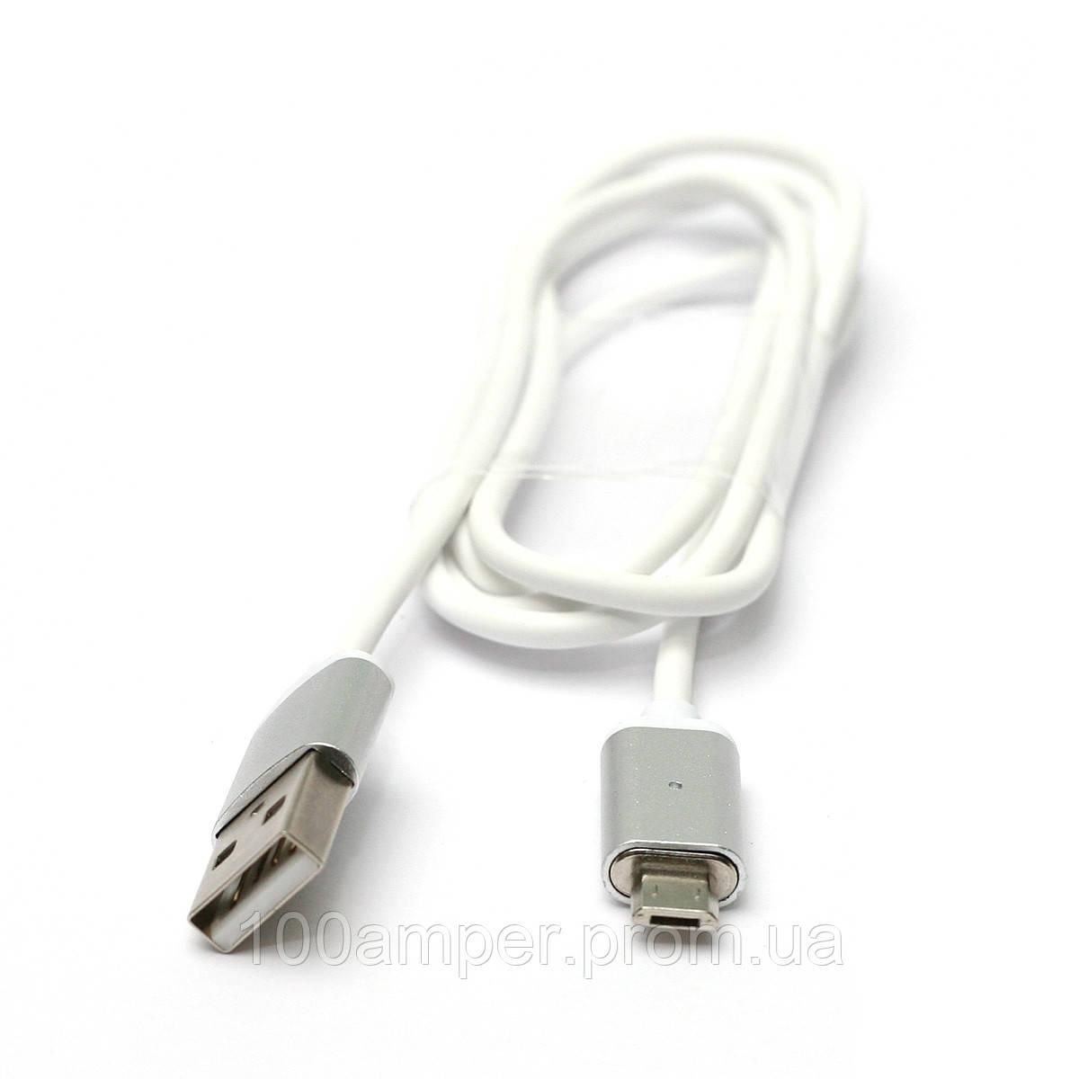 Кабель PowerPlant Magnetic USB 2.0 AM - Micro, 1м