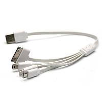 Кабель PowerPlant универсальный USB 2.0 AM - Mini, Micro, Lightning, I-Pod, 0.3м